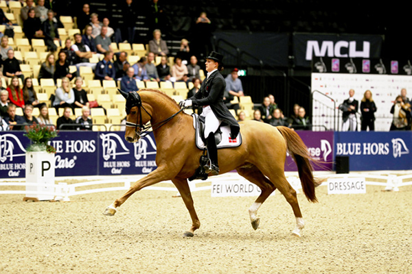 Denmark's Cathrine Dufour and Atterupgaards Cassidy produced a superb test to win the first leg of the FEI World Cup™ Dressage 2017/2018 Western European League on home ground in Herning (DEN). Photo by FEI/Everhorsephoto.com