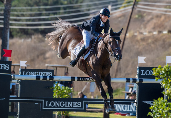 Chris Pratt and Concorde were third at the Longines FEI World Cup™ Jumping North American League qualifier in Del Mar.