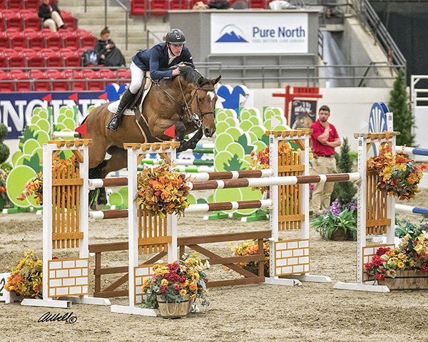 Daniel Coyle and Fortis Fortuna winners of the $35,000 Camelot Stables Cup, phase 1 of the Royal West International.