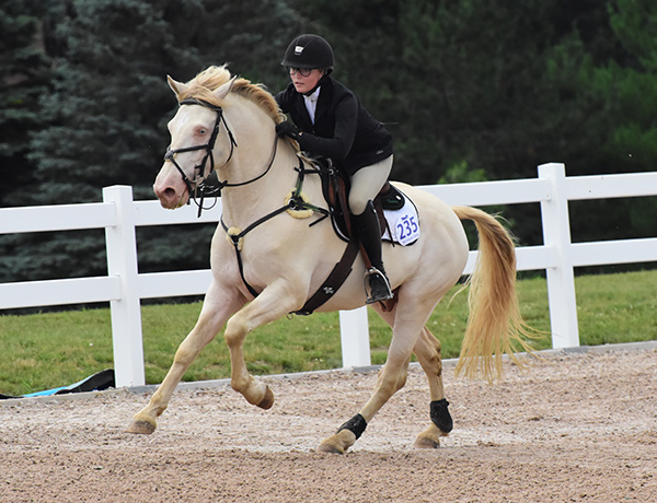 Nicole Donovan and Fiontar Mac Tire, competing at the Caledon Equestrian Park.