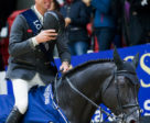The Netherlands' Jur Vrieling was a happy man after clinching victory and maximum points in the second leg of the Longines FEI World Cup™ Jumping 2017/2018 Western European League at Helsinki, Finland, riding VDL Glasgow v. Merelsnest. Photo by FEI/Satu Pirinen
