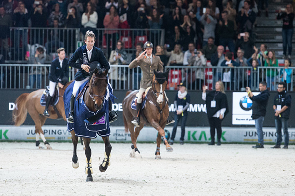 Maikel van der Vleuten and his trusty stallion VDL Verdi gave a masterclass in speed jumping to win today's Longines FEI World Cup™ Jumping 2017/2018 Western European League leg in Verona, Italy. Photo by FEI/Massimo Argenziano