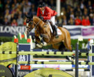 Eric Lamaze, riding Coco Bongo in FEI Nations' Cup Final held Sat night, Sept 30, 2017