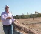 Mark stands at the site of the future five-star Salamander Hotel.