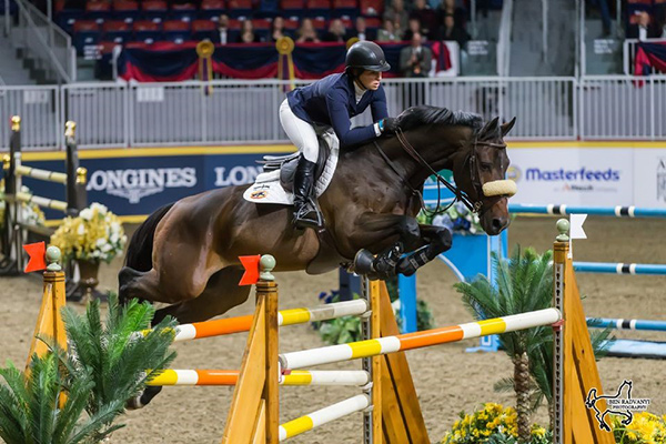 Four-time U.S. Olympic medalist Beezie Madden claimed the $50,000 Weston Canadian Open riding Breitling LS on Friday, November 10, at the CSI4*-W Royal Horse Show in Toronto, ON. Photo by Ben Radvanyi Photography