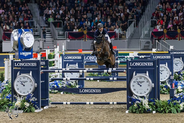 World number one Kent Farrington of the United States claimed the $150,000 Longines FEI World Cup™ Jumping Toronto riding Voyeur on Wednesday night, November 8, at the CSI4*-W Royal Horse Show in Toronto, ON. Photo by Ben Radvanyi Photography