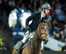 Switzerland's Steve Guerdat on his way to winning the fifth leg of the Longines FEI World Cup™ Jumping 2017/2018 Western European League in Stuttgart, Germany, with the super-speedy mare Hannah. Photo by FEI/Cara Grimshaw