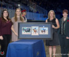 Dressage Owner of the Year Award from EC Dressage Committee Chair, Victoria Winter and EC Dressage Manager, Christine Peters during a special presentation on Nov. 9, 2017 at the Royal Horse Show in Toronto, ON. L to R: Megan Irving, Olivia Irving, Victoria Winter, Christine Peters. Photo by Cealy Tetley - www.tetleyphoto.com