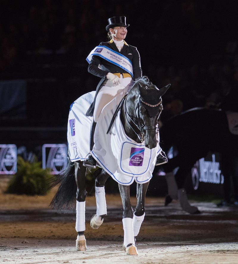 Isabell Werth and Weihegold FRH were convincing winners of today's third leg of the FEI World Cup™ Dressage 2017/2018 Western European League on home ground at Stuttgart, Germany.