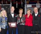 Mark Samuel of Mississauga, ON was named the JC Volunteer of the Year for 2017 in recognition of his many years of dedicated service to the jumping community. He accepted the award from members of the Equestrian Canada Jumping Committee at the Royal Horse Show on Nov. 8, 2017, in Toronto, ON. L to R: Jennifer Ward, Mark Samuel, Pam Law (Chair), Fran McAvity, Craig Collins. Photo by © Cealy Tetley - www.tetleyphoto.com