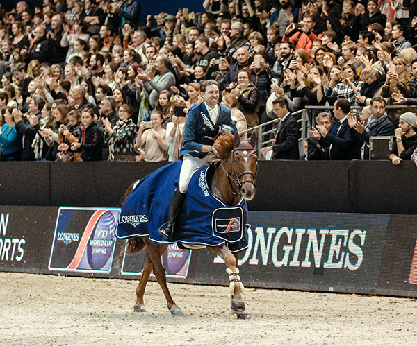 A great result on home ground! The French partnership of Simon Delestre and Hermes Ryan won today's Longines FEI World Cup™ Jumping 2017/2018 Western European League qualifier in Lyon, France. Photo by FEI/Christophe Tanière