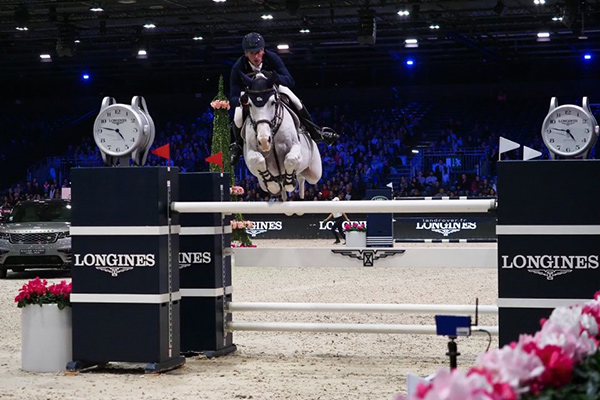 Daniel Deusser and Cornet d'Amour won the Longines Grand Prix at the Longines Masters of Paris. Photo by Laurent Vu for EEM.