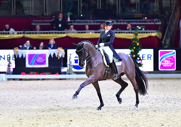 Germany's Dorothee Schneider and Sammy Davis Jr. strutted to victory in the fourth leg of the FEI World Cup™ Dressage 2017/2018 Western European League at Salzburg, Austria. Photo by FEI/Daniel Kaiser