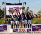Team Ireland, winners of the FEI Nations Cup 2017 at HITS Post Time Farm.