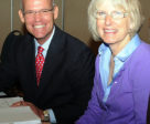 Bill Moroney and Mary Babick at the U.S. Hunter Jumper Association's annual meeting.
