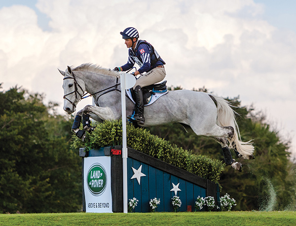Boyd Martin riding Welcome Shadow, winners of the 2017 Land Rover Wellington Eventing Showcase in Wellington, FL. The event has been cancelled for 2018.