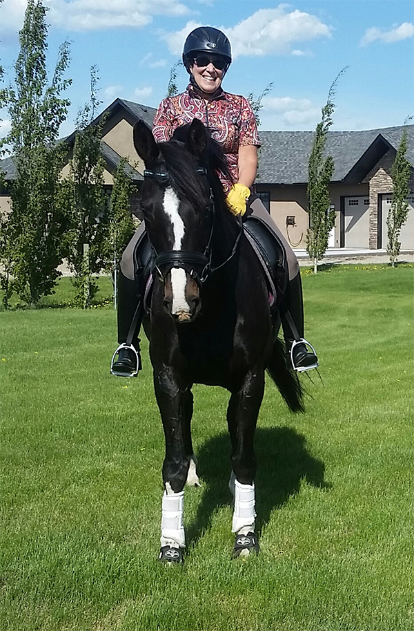 Jean Duckering of Red Deer, AB has been honoured as Dressage Volunteer of the Month for December 2017 in recognition of her tireless dedication to the dressage community, both in Alberta and nationwide. Photo courtesy of Sheri Cameron