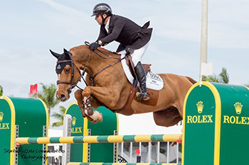 Eric Lamaze and Chacco Kid earned back-to-back $35,000 Equinimity WEF Challenge Cup wins on January 25 at the Winter Equestrian Festival in Wellington, FL. Photo by Starting Gate Communications