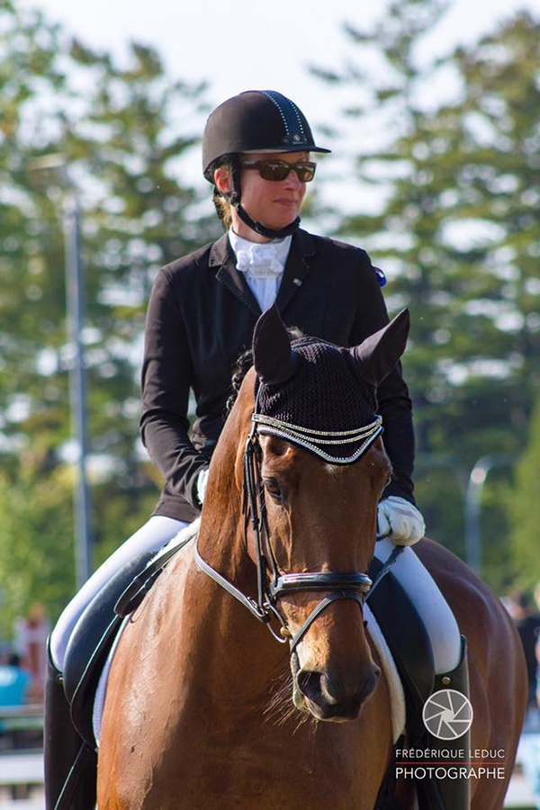 Sophie Lehoux of Rosemère, QC finished fourth in the November leg of the Equestrian Canada Para-Equestrian Sea-to-Sea Video Competition. Photo by Frédérique Leduc Photographe