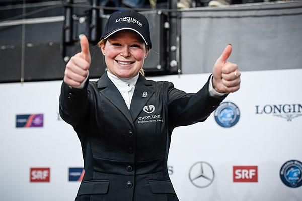 A bright new face lit up the sport of show jumping today when Swedish newcomer, Stephanie Holmen (27), simply out-rode many of the best in the world to win the eleventh leg of the Longines FEI World Cup™ Jumping 2017/2018 Western European League in Zurich, Switzerland. Photo by FEI/Katja Stuppia