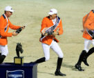 Champagne celebration time for Team Netherlands after winning the Longines FEI Jumping Nations Cup™ Final at the Real Club de Polo in Barcelona (ESP) last September. Photo by FEI/Jim Hollander