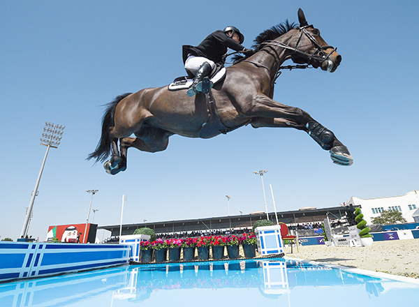 Daniel Meech and his mare, Fine, put in a great performance to help Team New Zealand to a superb victory in the Longines FEI Jumping Nations Cup™ of United Arab Emirates 2018 in Abu Dhabi. Photo by FEI/Martin Dokoupil