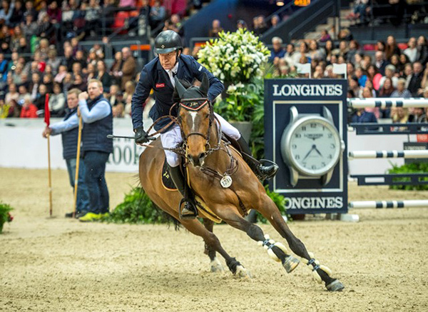 Britain's Michael Whitaker qualified for the Longines FEI World Cup™ at the last Longines leg in Gothenburg, where he placed third riding JB's Hot Stuff. Photo by FEI/Arnd Bronkhorst