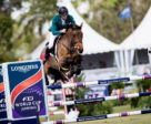 Cruising to victory, Daniel Coyle (IRL) and his mount Cita, take their first Longines FEI World Cup™ qualifier win in Wellington (USA). Photo by FEI/Ashley Neuhof
