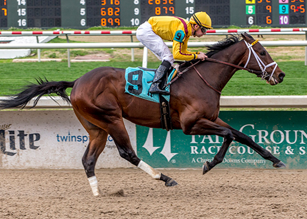 Telekinesis winning on February 9 at Fair Grounds. Photo by Hodges Photography