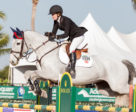 Members of the sixth-place Canadian team in the $25,000 Hermès Under 25 Team Event, Kara Chad & Carona.