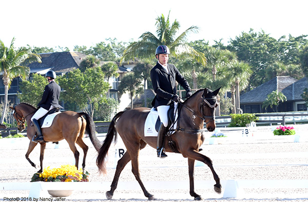 Eventer Boyd Martin competing on Contessa at the Adequan Global Dressage Festival. Photo© 2018 by Nancy Jaffer