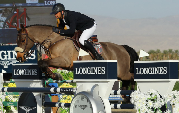 Nayel Nassar (EGY) and his ride Lordan are the shining stars of Thermal winning the Longines FEI World Cup Jumping™, the final leg of the west coast sub league of the North American League.