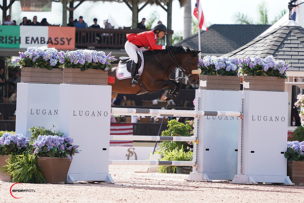 Beezie Madden and Breitling LS won the 205,000 CSIO4* Grand Prix at the Winter Equestrian Festival. Photo by Sportfot