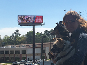 A familiar face on a billboard in Tallahassee.