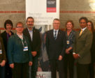 From L to R: Noah Morrissey, Jenny Mayer (AgScape), Dr. Heather Ramey (Research at the Centre of Excellence for Youth Engagement), Gayle Ecker, (Equine Guelph), Dr. Rene Van Acker (Ontario Agricultural College), Dr. Malcolm Campbell (University of Guelph), Dr. Bronwynne Wilton (Wilton Consulting Group), Akaash Maharaj (Global Organization of Parliamentarians Against Corruption), Tracey McCague-McElrae (Ontario Equestrian), Dominic Morrissey (PC candidate), Kim Leffley (Canadian Pony Club). Photo by Matthew Riediger