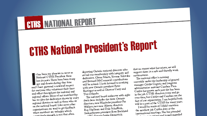 Thumbnail for CTHS National President's Report