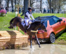 Michael Jung and Fischerrocana FST were brilliant, if not perfect, as they took over the lead after cross-country at the Land Rover Kentucky Three-Day Event.