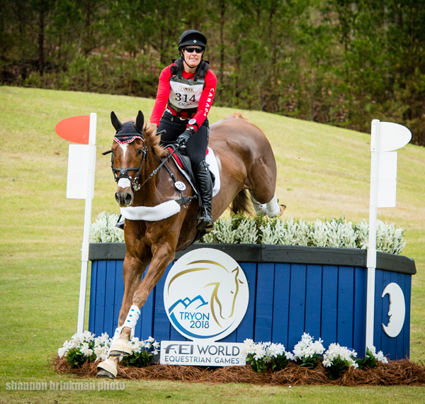 Lisa Marie Fergusson of Langley, BC was the top Canadian in the CIC 3* division aboard Honor Me at The Fork WEG Eventing Test Event held April 6-8, 2018 at the Tryon International Equestrian Center in Mill Spring, NC.