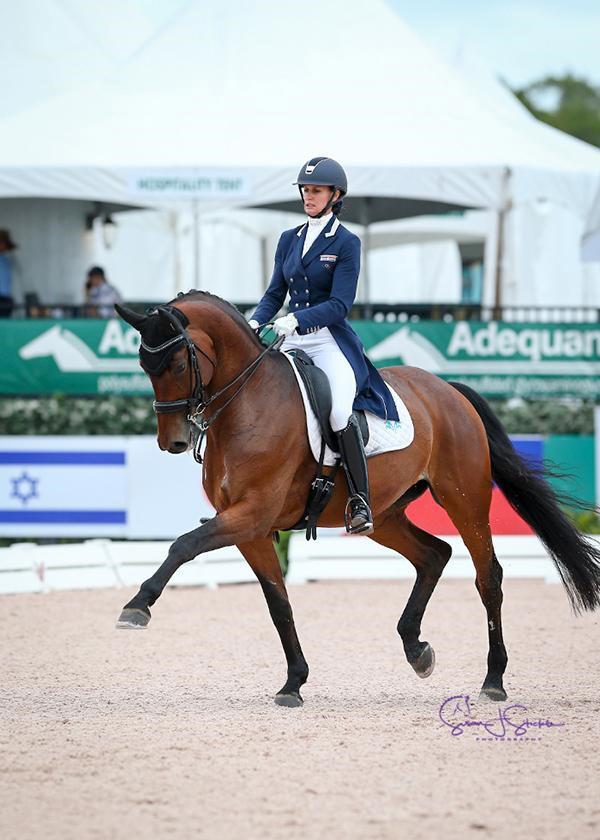 Yvonne Losos de Muñiz and Aquamarijn scored 71.596% to win the Grand Prix Special CDI3* on the last day of the 12-week 2018 Adequan® Global Dressage Festival. Photo ©SusanJStickle