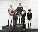 The winners' podium at Longines Masters of New York.