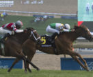 Niigon's Eclipse and jockey Gary Boulanger winning the Grade 2 Nassau Stakes on Sunday, May 27 at Woodbine Racetrack. Bletchley (5) finished second.