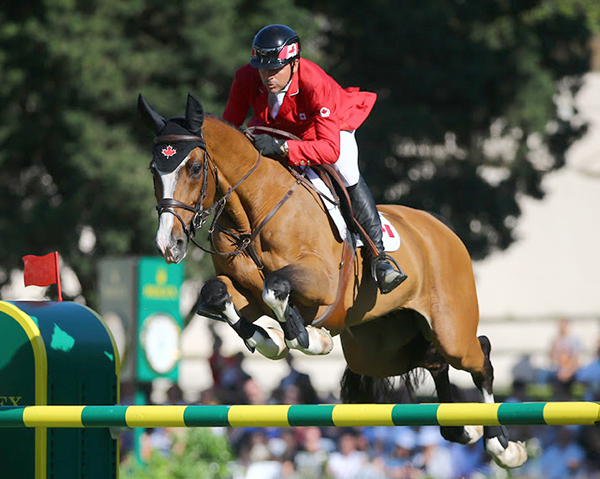 Eric Lamaze jumped double clear with Coco Bongo, owned by Artisan Farms and Torrey Pines Stable, in the €200,000 Nations' Cup at CSIO 5* Rome, Italy ‒ one of six riders to jump double clear.