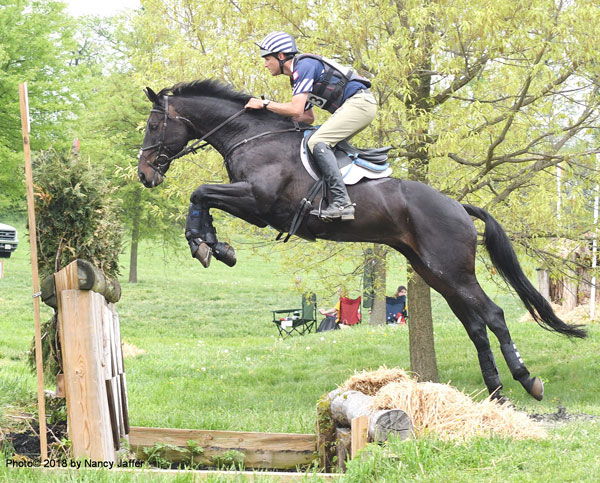 "Boyd Martin prepped Olympic veteran Shamwari 4 (""there's not a course in the world he couldn't jump) going cross-country at the Jersey Fresh International for their trip to the Luhmuhlen 4-star. Photo© 2018 by Nancy Jaffer"