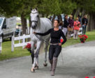 Colleen Loach (CAN) and Rune Stone during the first horse inspection at the MARS Incorporated Bromont CCI Three Day Event in Bromont, Quebec.