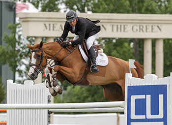 Eric Lamaze and new mount, Saura de Fondcombe, won the $70,200 1.50m Canadian Utilities Cup on Saturday, June 16, at the CSI5* Spruce Meadows 'Continental' tournament in Calgary, AB.