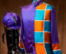 The Thoroughbred Race Club silks were fashioned by a seamstress using Italian charmeuse silk. Photo by Dave Landry