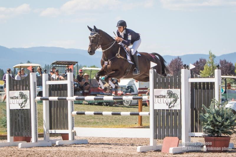 Frankie Thieriot Stutes won the CCI3* at The Event at Rebecca Farm, riding Chatwin. Photo by Shannon Brinkman Photography