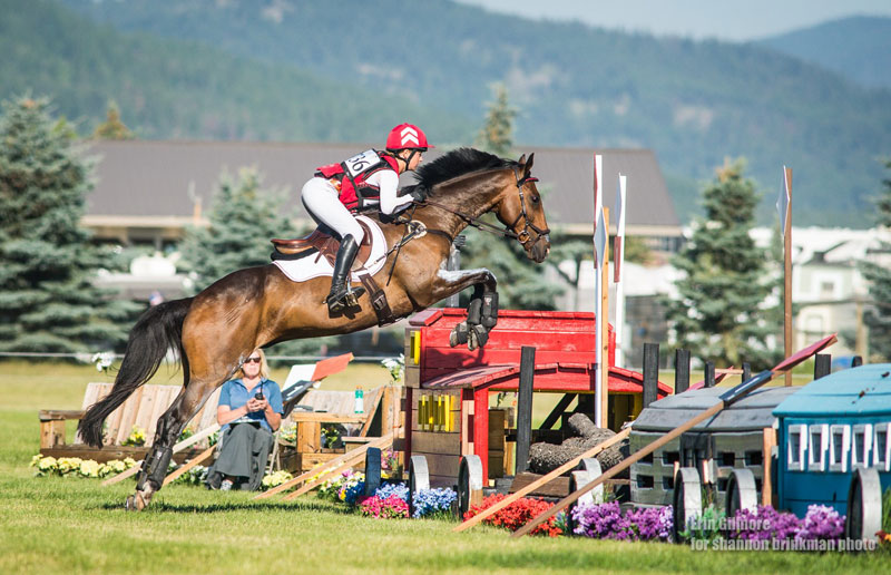 A double-clear cross-country round pushed Holmes-Smith up into fifth place after day two. Photo by Erin Gilmore for Shannon Brinkman Photo