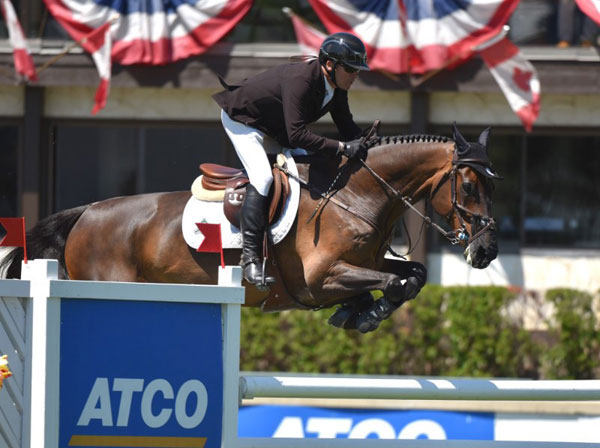 Eric Lamaze and Chesney, winners of the 2018 ATCO Cup (1.45m). Photo © Spruce Meadows Media