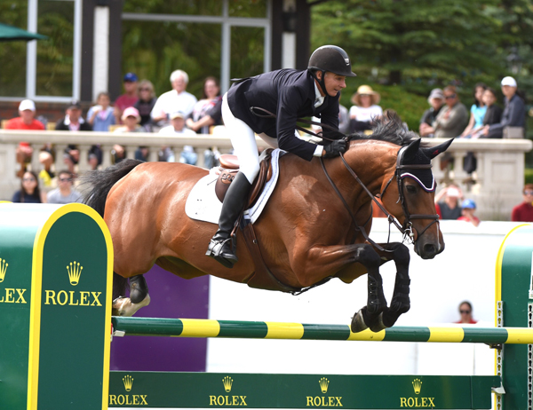 Mario Deslauriers (CAN) and Bardolina 2, winners of the 2018 Pan American Cup presented by Rolex.